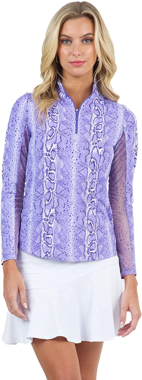 IBKUL Women's Great Overseas parallel import regular item interest Sun Protective UPF 50+ Cooling Long Kimmy Sl Print