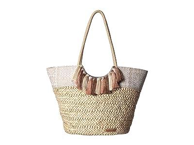 Sakroots Artist Circle Lola Beach Bag (White Tribal Beauti) Tote Handbags