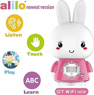 Huohuotu Alilo Big Bunny G7WIFI Early Education Toy, Pink, LCD Screen Display, WiFi+USB Download, Wechat Messaging