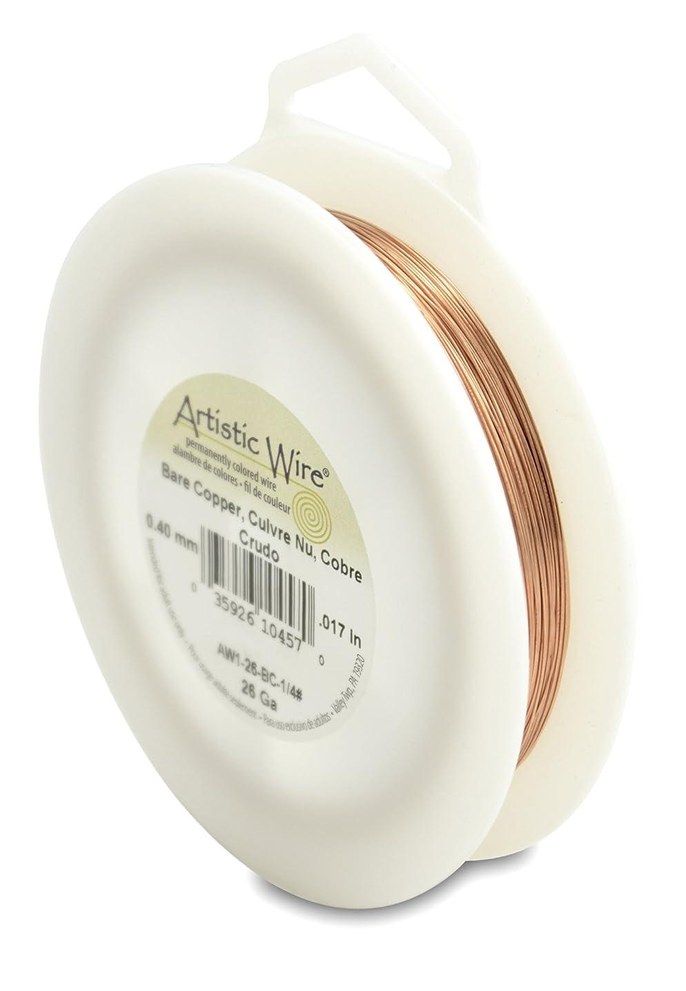Artistic Wire 26-Gauge Bare Copper Wire, 1/4-Pound
