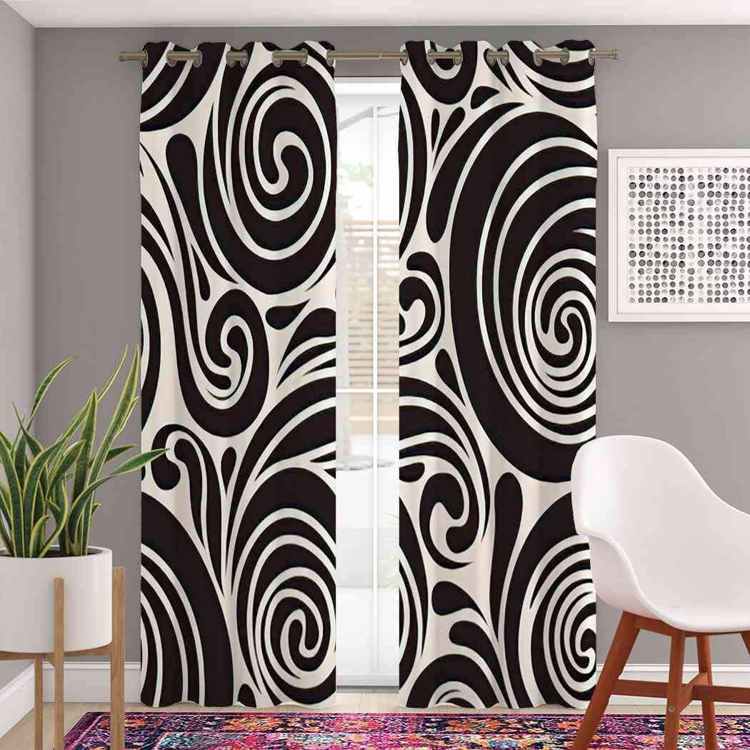 Atomack Max 64% OFF Blackout Grommet Curtains 96 Modern Pattern Inch Length Louisville-Jefferson County Mall