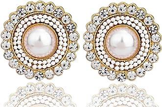 Vintage Earrings ON SALE Dome Pearlized Pink Earrings