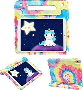 HDE iPad 9th Generation Case for Kids Shockproof iPad Cover 10.2 inch with Handle Stand fits 2021 9th Gen, 2020 8th Gen, 2019 7th Gen Apple iPad 10.2 - Tie Dye