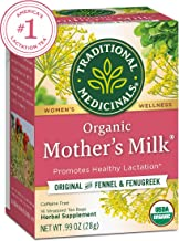Traditional Medicinals Organic Mother's Milk Women's Tea, Promotes Healthy Lactation, 16 Tea Bags (Pack of 6)