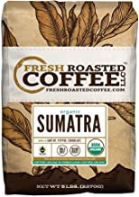 Organic Sumatra Fair Trade Coffee, Whole Bean Bag, Fresh Roasted Coffee LLC. (5 LB.)