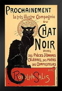 Le Chat Noir The Black Cat Vintage Advertisement Black Wood Framed Poster 14x20