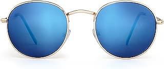 Polarized Small Round Sunglasses Retro Mirror Circle Lens Metal Frame Men Women