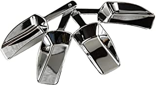 Metallic Silver Hard Acrylic Candy Buffet Scoops - Package of 12 for Wedding, Party and Special Event Candy Buffets