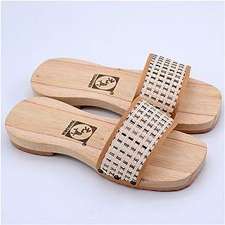 ZCPCS NUEVOS Zapatillas de Madera Moda Simple Tarea Tarea Tarea Tareas de Ducha Slippers Hombres Y Mujeres Zapatos De Made...