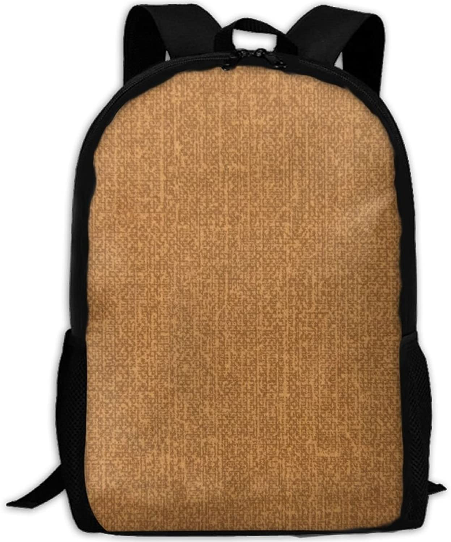 Backpack Laptop Travel Hiking School Bags Vintage Yellow Daypack Shoulder Bag