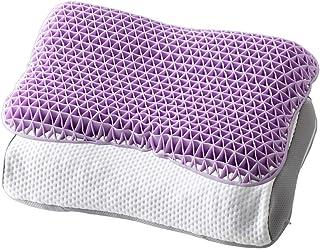 アイリスプラザ 枕 ハイブリッド 2層 ハニカムジェル 立体構造 柔らかな寝心地 高さ調節可 リバーシブル 体圧分散 通気性 耐久性 伸縮性 ムレにくい CGHJP-3555