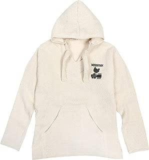 Earth Ragz Woodstock 1969 Baja Hoodie Jerga Drug Rug Hooded Pullover