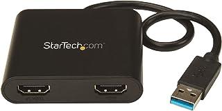 StarTech.com USB - デュアルHDMI ディスプレイ変換アダプタ USB 3.0 - HDMI 4K/30Hz USB32HD2