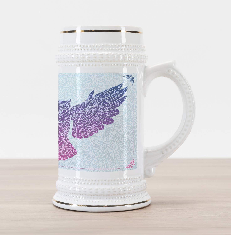 purple stoneware pint beer glass
