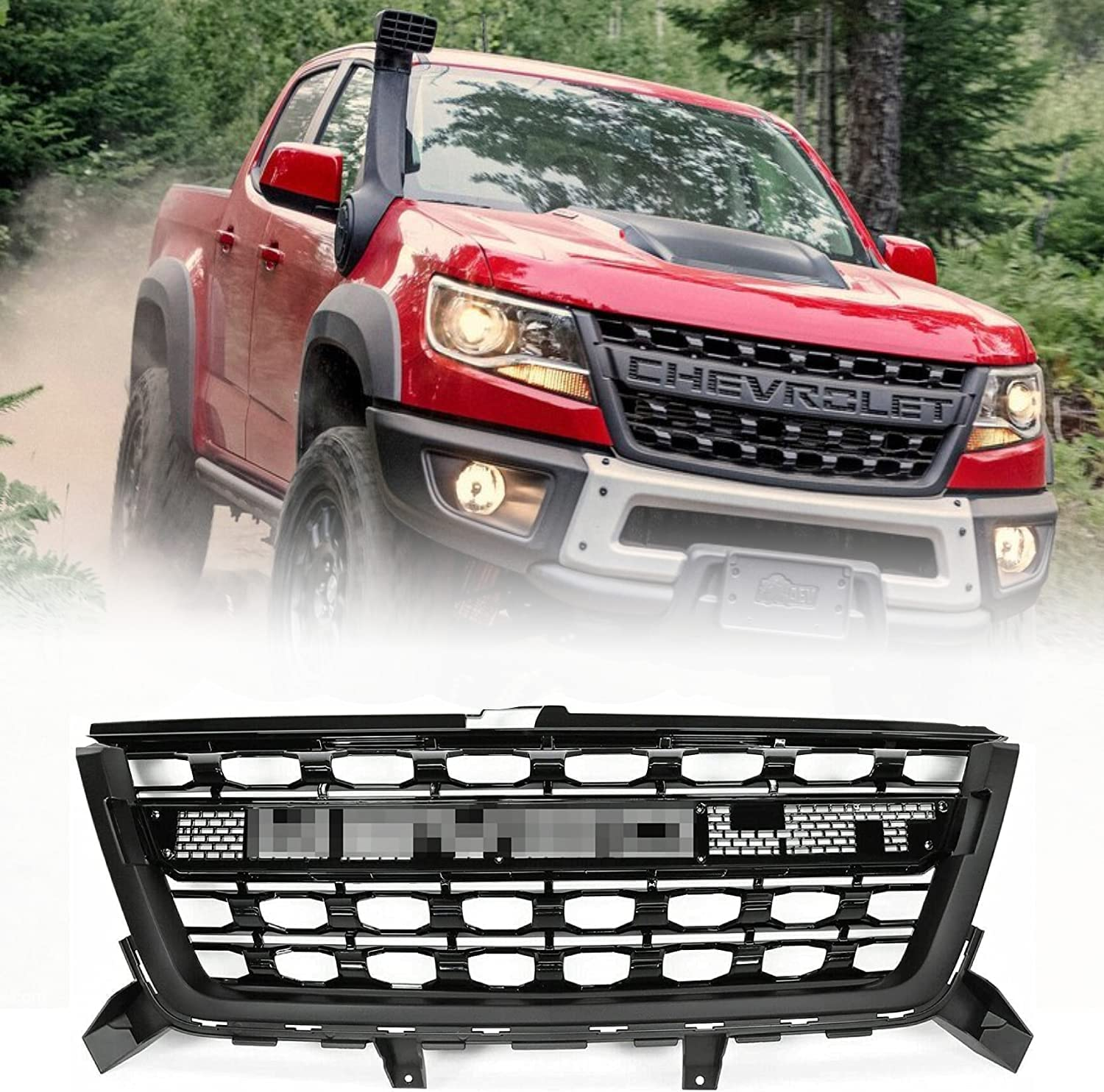 Front Grille Albuquerque Mall Grill Compatible with Colorado 2016 2017 Chevy 2018 unisex