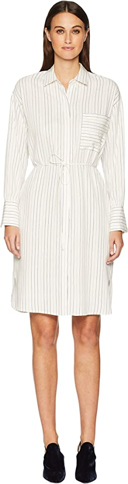 Bar Stripe Shirtdress
