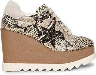حذاء رياضي نسائي بكعب وتدي ورباط من Steve Madden باللون الذهبي