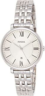 Fossil Jacqueline Women's White Dial Stainless Steel Band Watch - ES3433