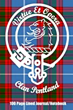 Clan Pentland 100 Page Lined Journal/Notebook