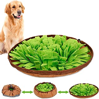 Dog Feeding Mat Large, Dog Snuffle Mat Pet Snuffle Bowl Pet Cat Snuffle Mat Cat Snuffling Nose Work Mat IQ Training Slow Eat Bowl