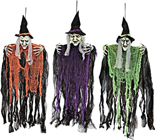 Best hanging witch halloween decorations Reviews