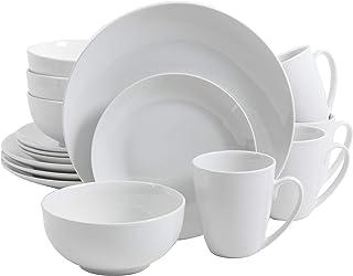 Gibson Home Zen Buffet Dinnerware set, Service for 4 (16pcs), White (Coupe)