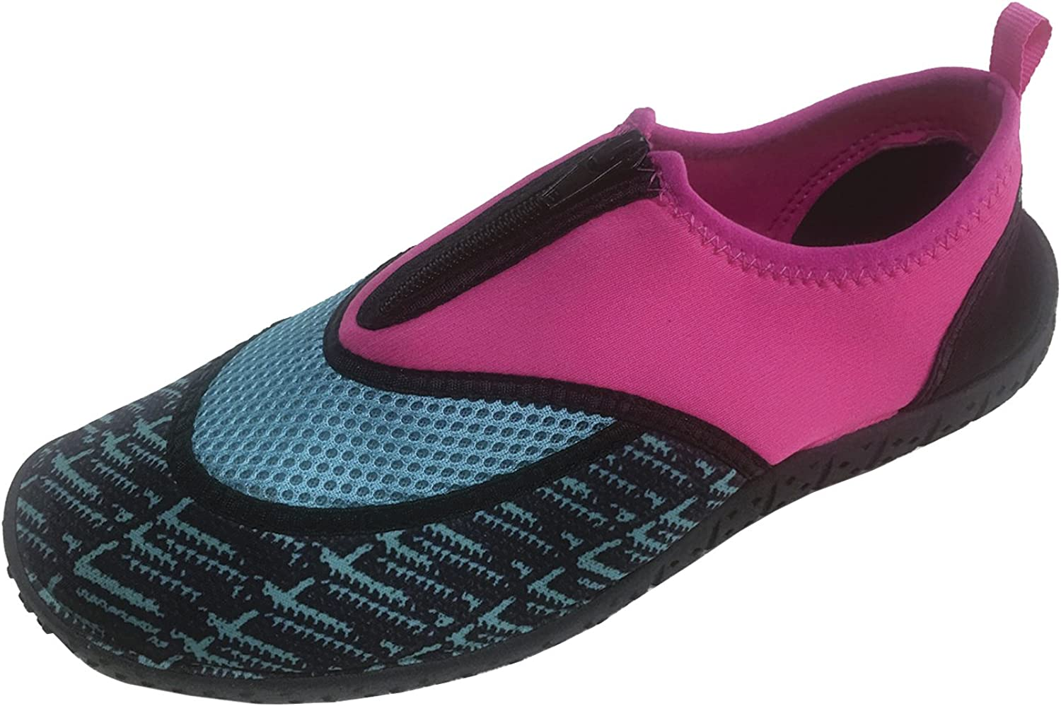 Cambridge Select Women's Slip-on Closed Toe Zipper Quick Dry Mesh Non-Slip Water shoes