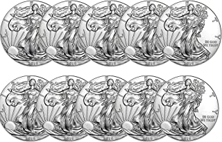 2019 Lot of (10) 1-Ounce American Silver Eagle Brilliant Uncirculated