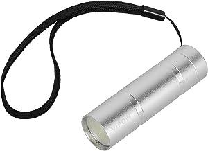 Vipow URZ0904 LED aluminium zaklamp 1 W COB, zilver, 2,6 x 2,6 x 8,6 cm