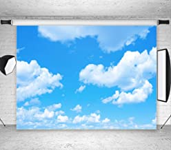GYA Blue Sky White Clouds Photo Background Sunshine Sky Clouds Theme Photography Backdrop Photo Booth Wedding Party Decoration Background Studio Props Vinyl dn153-9x6FT