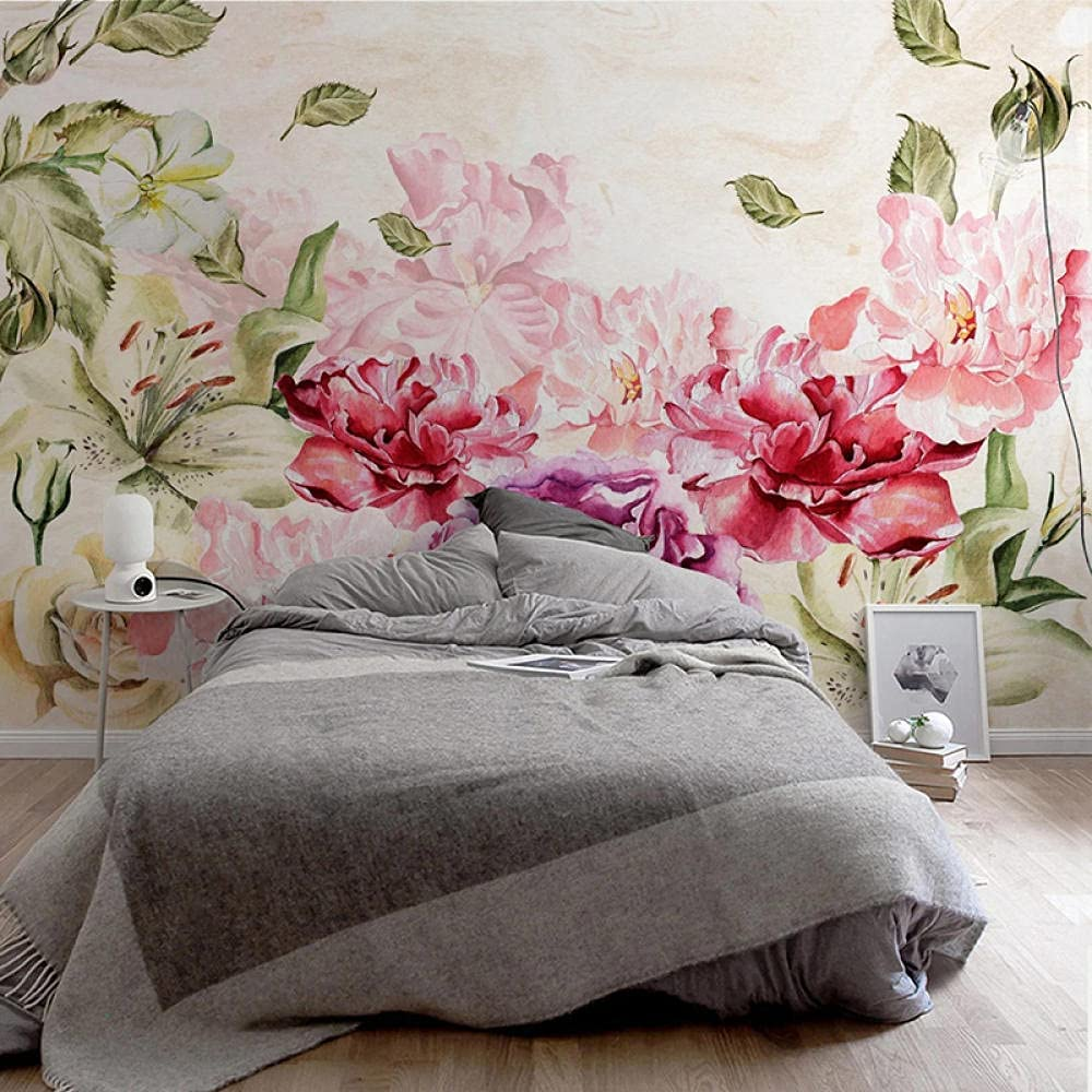 Custom Mural Retro Wallpaper Rose Mail order cheap 3D Flower Hand-Painted 67% OFF of fixed price