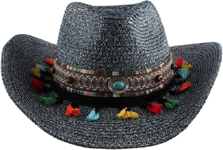 YHWW Womens Felt Fedora Hat, Wide Brim Panama Cowboy Hat Floppy Sun Hat Friend Gift,Medium