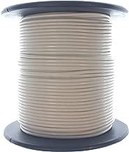 WHITE 24AWG Stranded 300V Hook Up Wire - 100' Roll