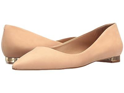 Massimo Matteo Pointy Toe Flat 17 (Nude Nubuck) Women