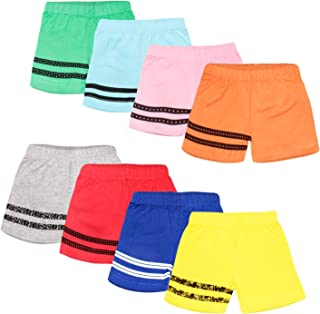 Baby Unisex Cotton Shorts - Pack of 8