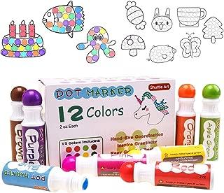 Shuttle Art 12 Colors Washable Dot Markers, Bingo Daubers Dabbers Dauber Dawgs for Kids Toddlers Preschool Children Art Craft Supply