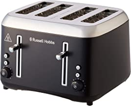 Russell Hobbs RHT514BLK Addison 4 Slice Toaster, Matte Black