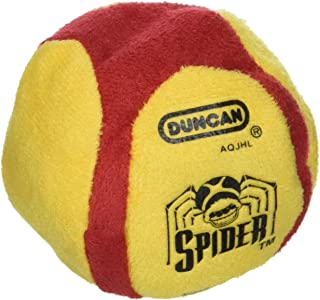 Duncan Toys 3906SA Spider Footbag [Red/White/Yellow/Green/Blue] - 6 Panel, Sand Filled, Synthetic Leather - for Beginners. Freestyle Footbagging
