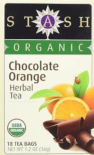 Stash Herbal Tea Organic Chocolate Orange 1 Pack 18 Bags