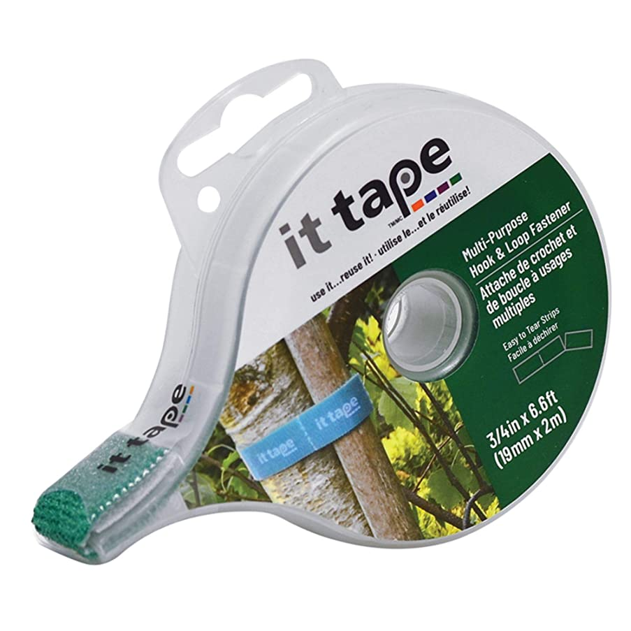 IT Tape Multi-Purpose Fastener ? Inch X 2 Meter with Dispenser (Green)