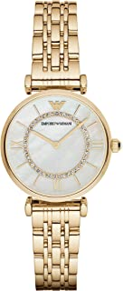 Emporio Armani AR1907 Womens Quartz Watch, Analog Display and Stainless Steel Strap