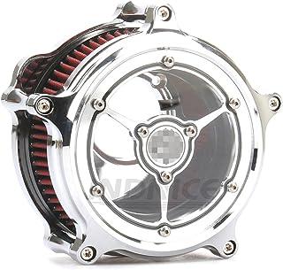 Moto Black POWER BLUNT Filtro aspirazione filtro aria Per Harley Sportster 1200 883 Quaranta otto 91-18 Contrast Cut