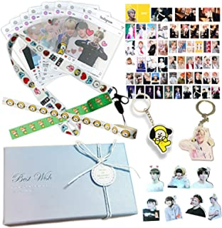 Kpop Jimin Fans Gift Set for Army Daughter Bangtan Boys Box Include Stickers, Lomo Cards, Lanyard and Keychain