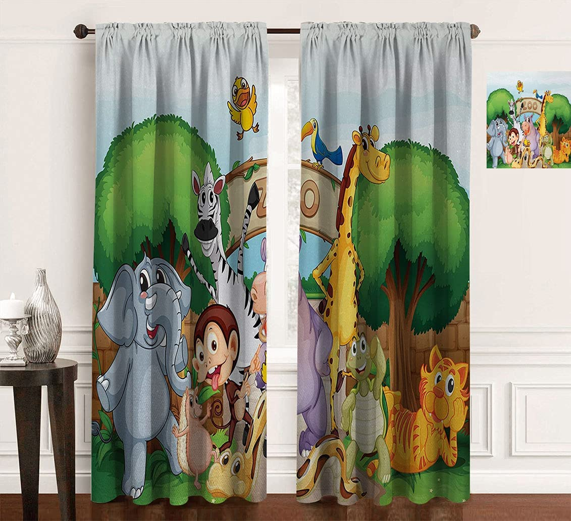 Zoo Energy Smart Drapes and Animals in The Max 56% OFF Nature Beautiful Super-cheap