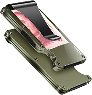 Minimalist Aluminum Fibre Slim Wallet, Slim Wallet & RFID Blocking Front Pocket Wallet,Minimalist Wallet for Men And Women