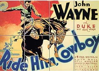 PANEL ART PRINT FILM MOVIE WEST DUKE JOHN WAYNE RIDE HIM COWBOY REPRODUCTION POSTER OZ3352