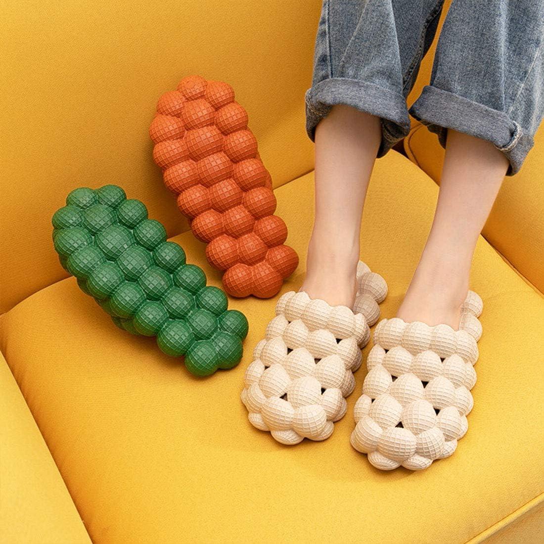 Funny Bubble Slippers,Reflexology Flip Flop/Sandals for Women, Super Soft Non-Slip Waterproof Summer Unisex Beach Massage Sandals