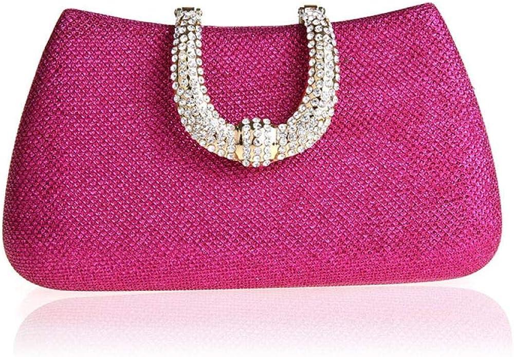 Bagseqt,pochette donna,borsa da sera da donna,con chiusura a forma di u 6115456247634
