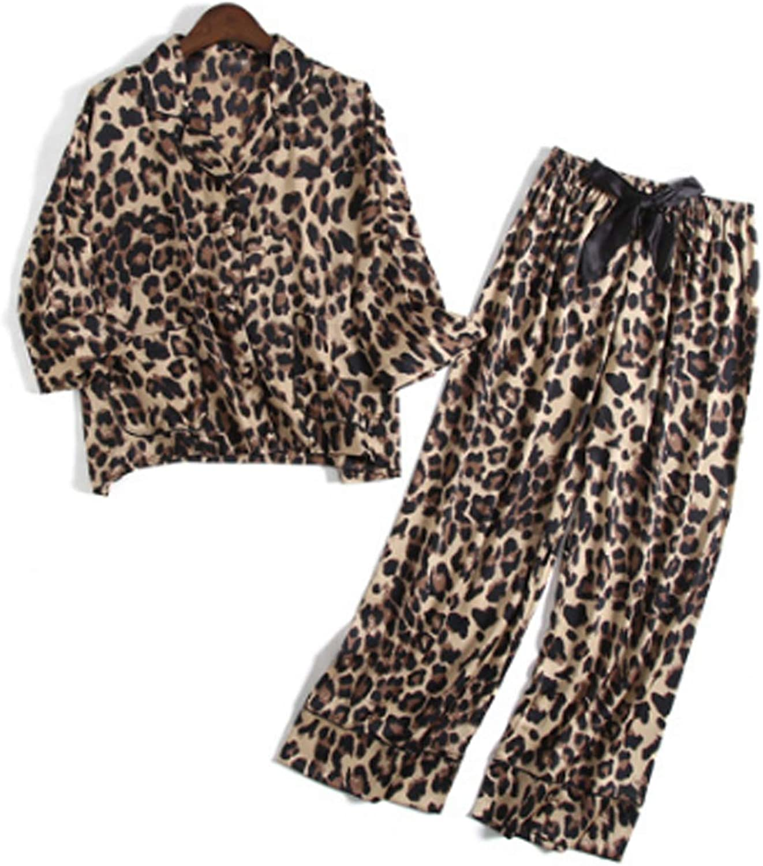 Men'S Pajama Set Long Sleeve Sleepwear For Men Brown Xl