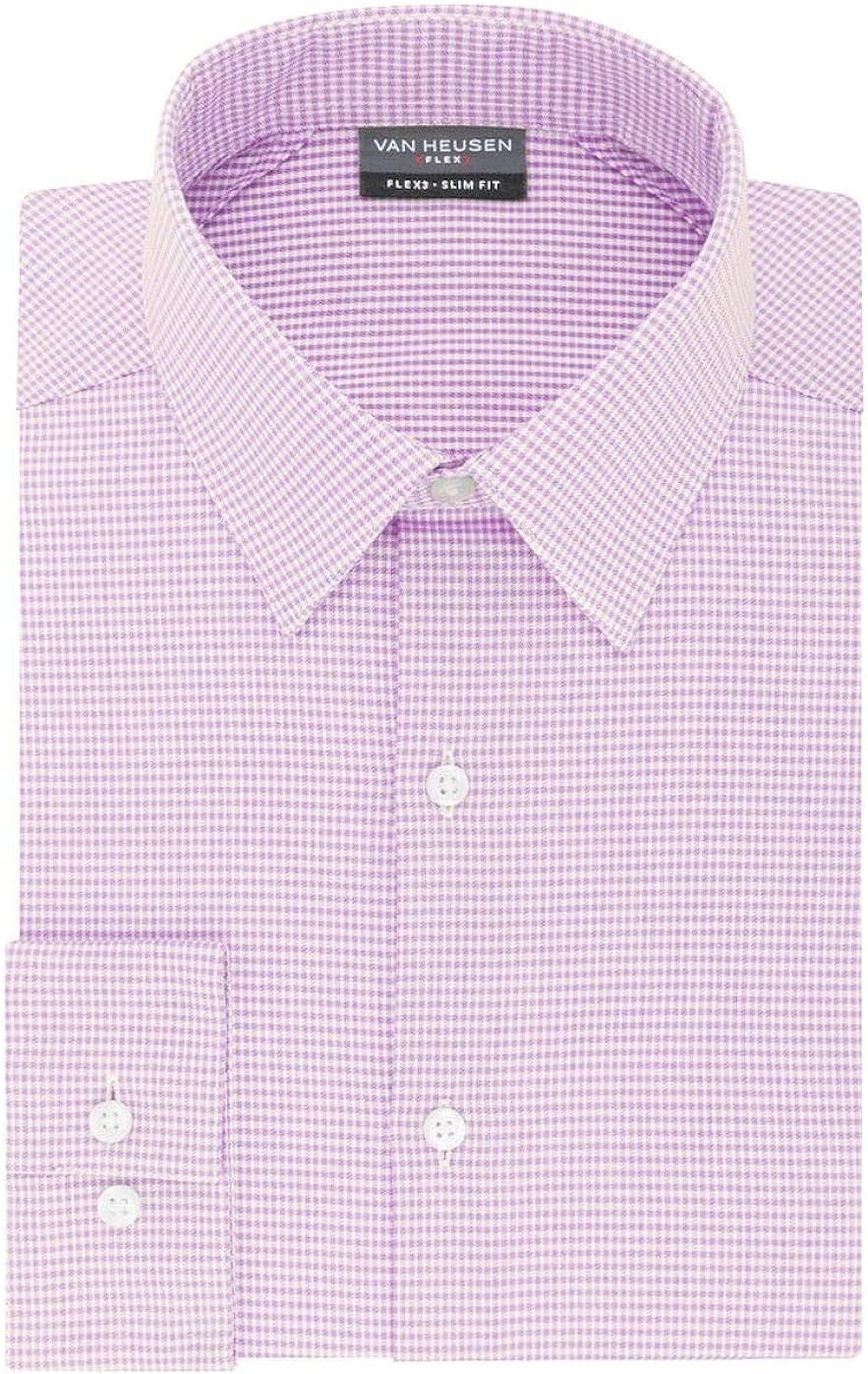 Van Heusen Men's Flex 3 Slim Fit 4-Way Stretch Dress Shirt
